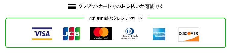 主要クレジットカード、電子マネーでのお支払いが可能です!