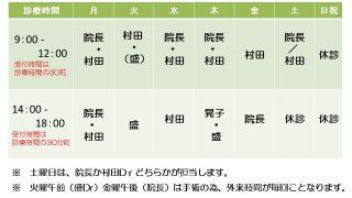 今週(6/25~)の担当医表